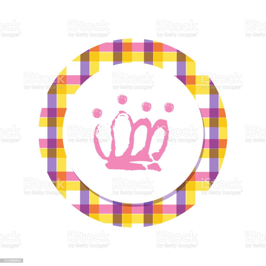 Cartoon Hand Drawn Crown Icon For A Little Princess Or Prince Baby