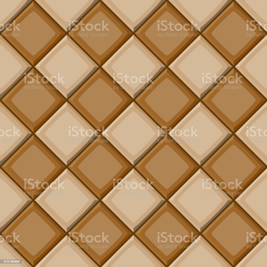 Schon Cartoon Hand Drown Beige And Brown Diagonal Seamless Tiles Texture. Vector  Illustration Royalty Free
