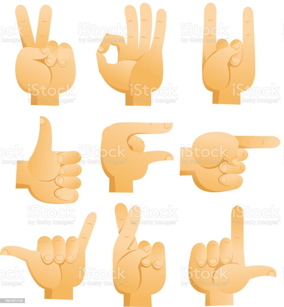 Cartoon Hand signs peace ok rock luck pointing good royalty-free cartoon hand signs peace ok rock luck pointing good stock vector art & more images of cartoon