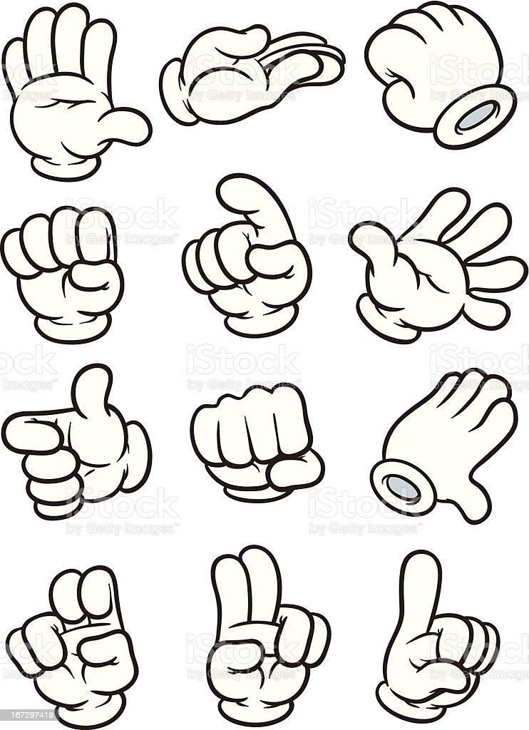 Dibujos animados mano - ilustración de arte vectorial