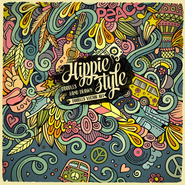 Best Hippie Illustrations, Royalty-Free Vector Graphics