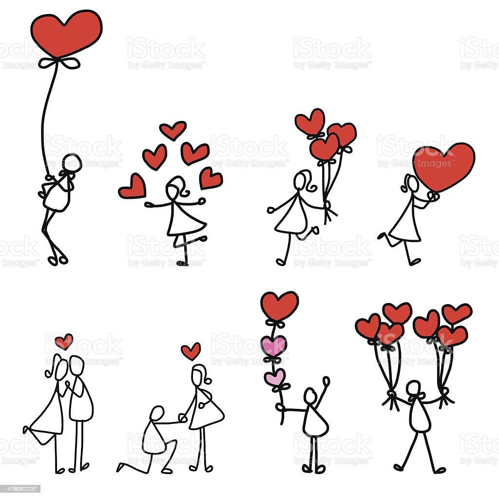 カットイラスト手描きの愛 のイラスト素材 478061237 | istock