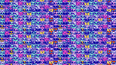 Cartoon hand-drawn seamless pattern - Cats. Image of funny doodles animals.