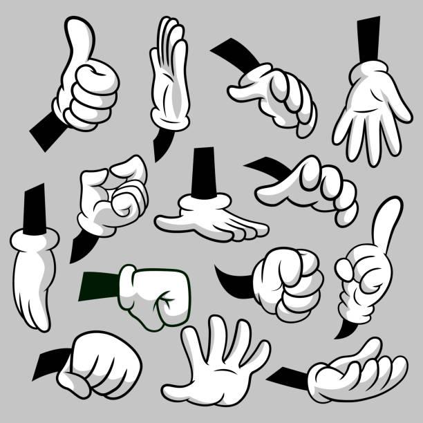 Free Cartoon Hands Vector Art