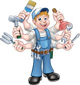 Cartoon Handyman