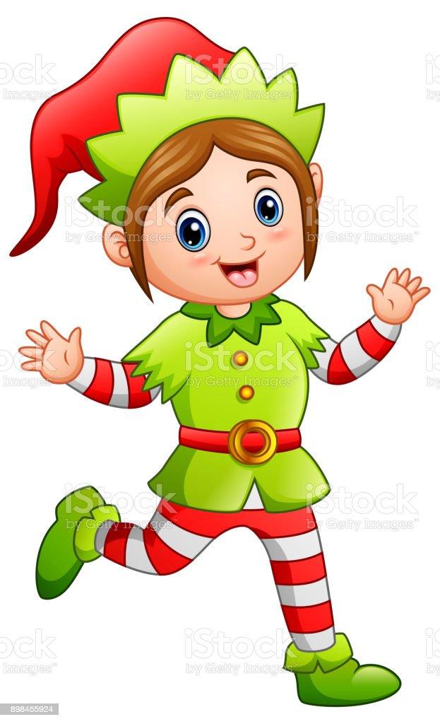 ilustração de duende do desenho animado feliz natal e mais banco de