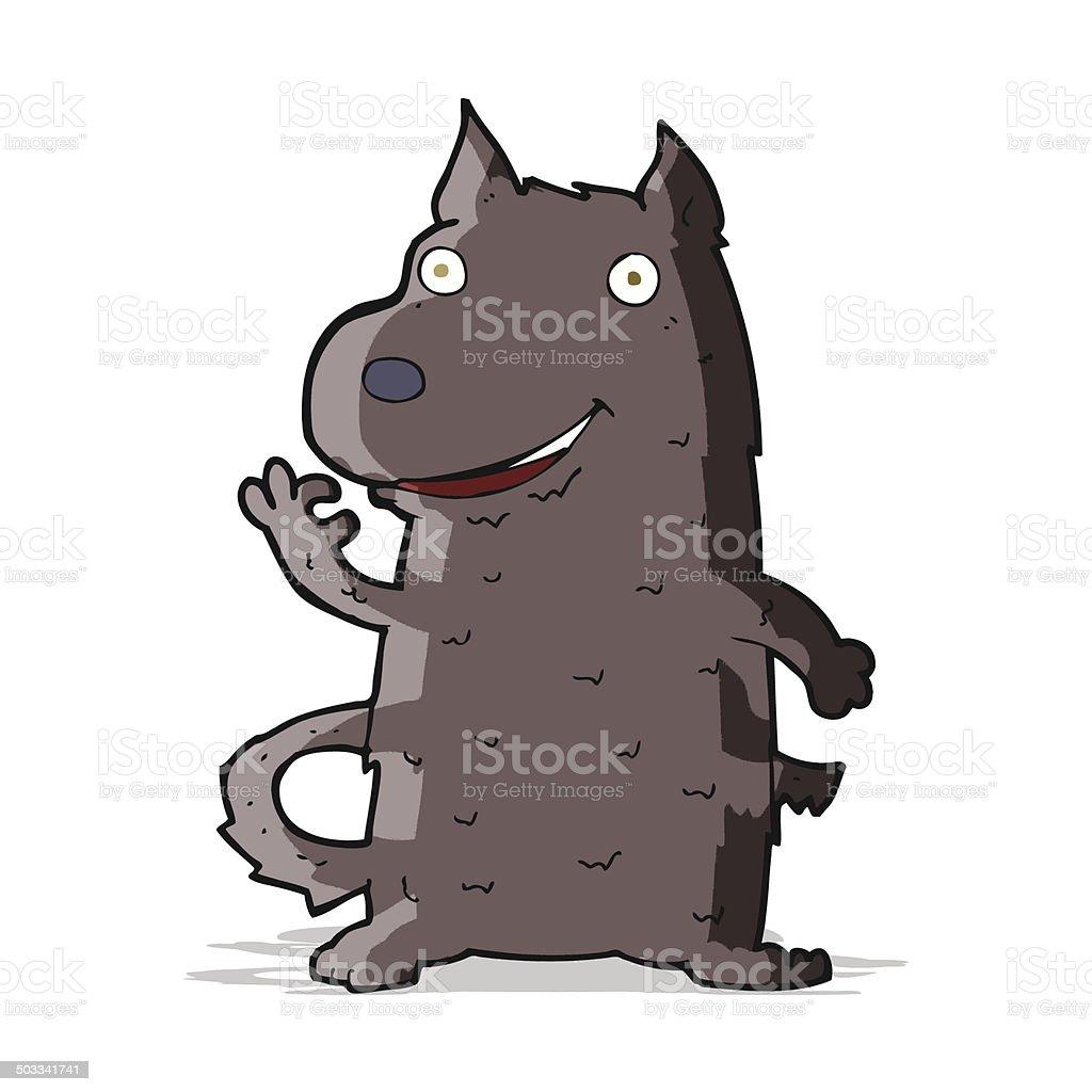 Comic Glückliche Hund Stock Vektor Art Und Mehr Bilder Von Clipart