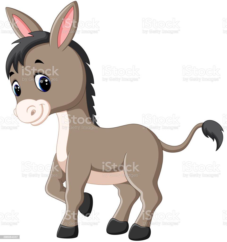 Cartoon happy donkey - illustrazione arte vettoriale