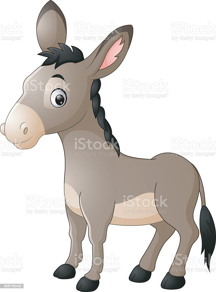 Cartoon happy donkey