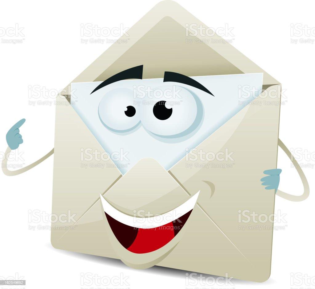 Cartoon Happy Email Character royalty-free stock vector art