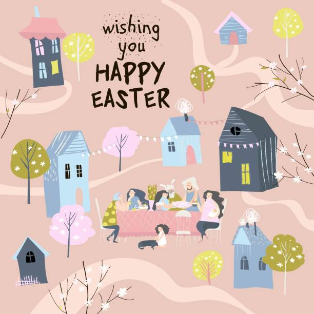 Easter Lunch Illustrations, Royalty-Free Vector Graphics ...