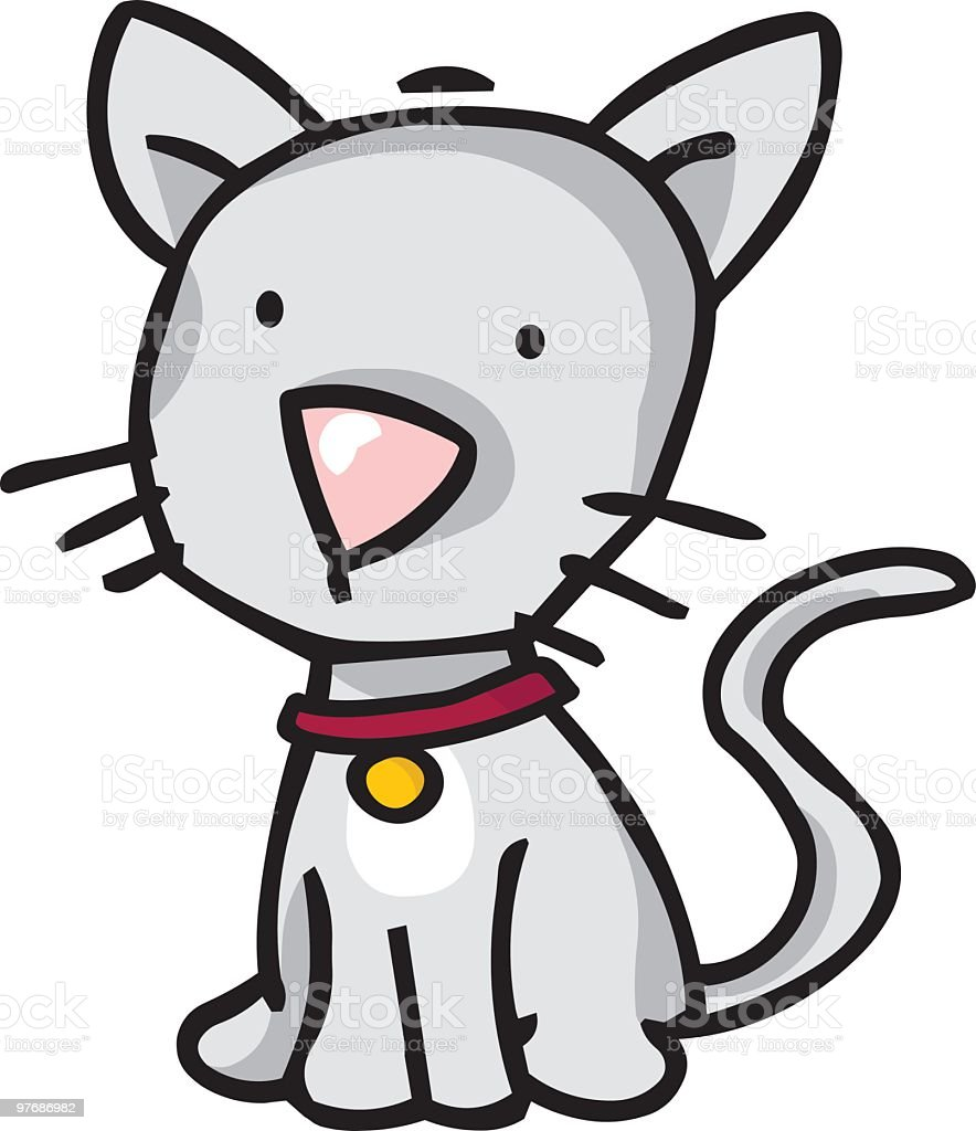 Cartoon Happy House Cat Stock Vector Art More Images Of Animal