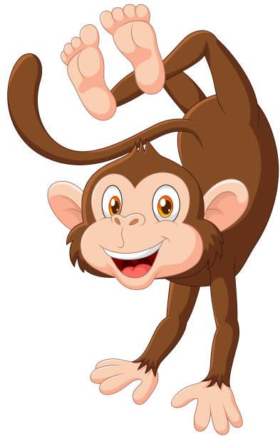 Happy Cartoon Gorilla Face Royalty Free Ca...