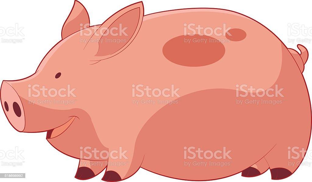 カットイラストハッピーな豚の丸焼き おもちゃのベクターアート素材や