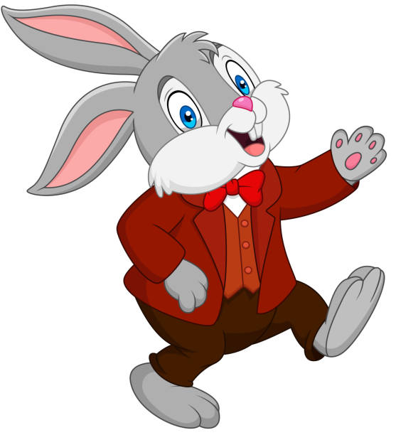Heureux en dessin animé lapin - Illustration vectorielle