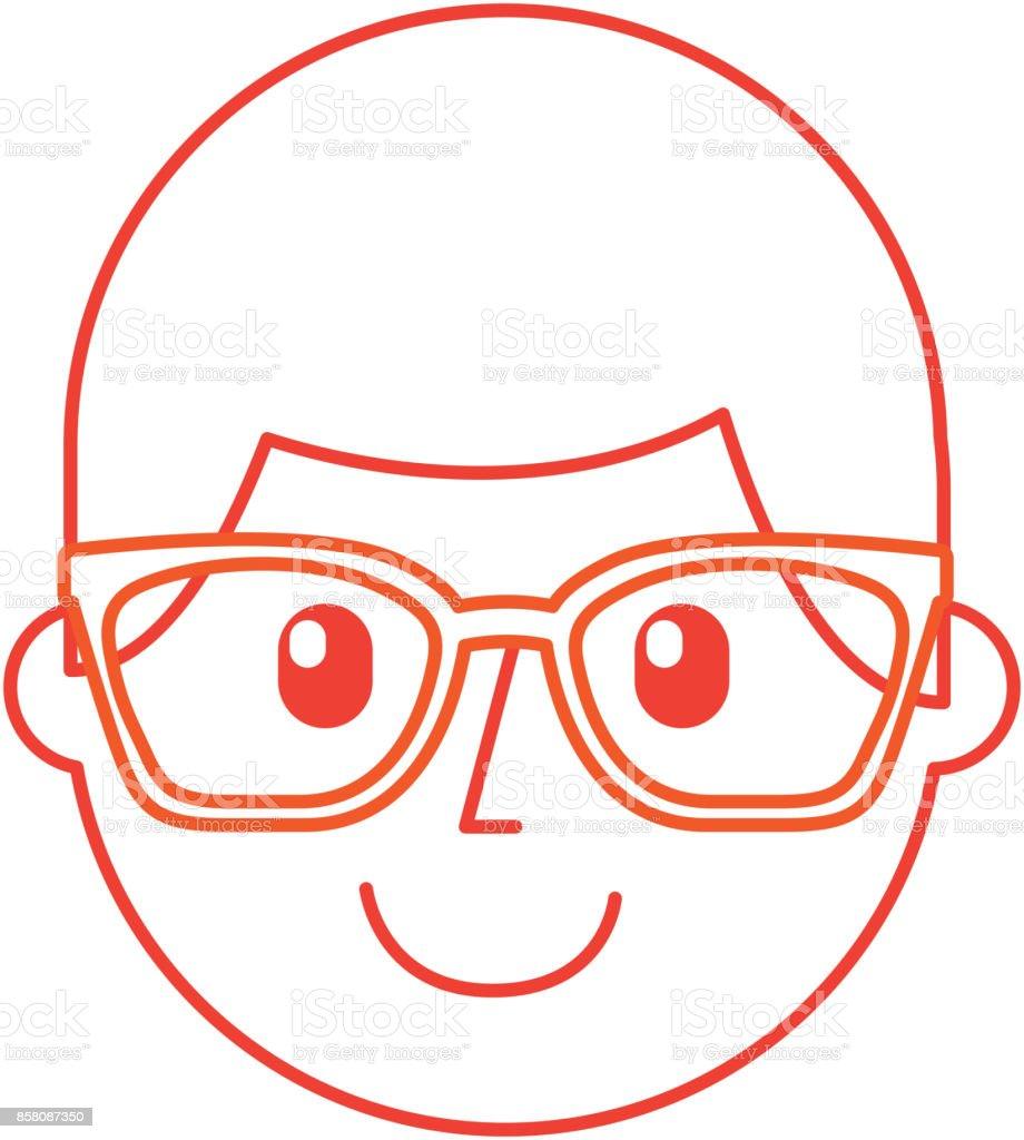 Ilustración De Joven Feliz De Dibujos Animados Con Gafas Día Del