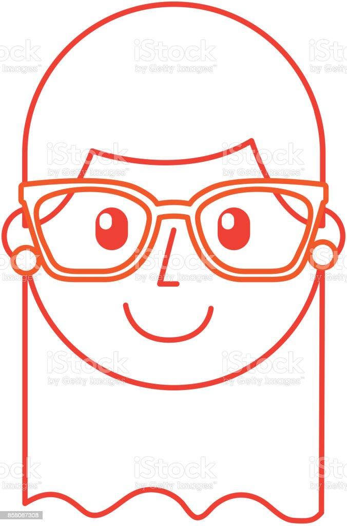 Ilustración De Niña Feliz De Dibujos Animados Con Gafas Día Del