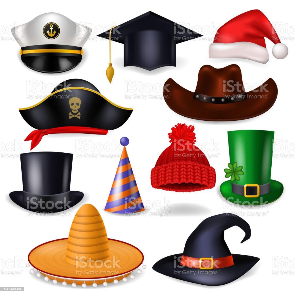 guetter liquidation à chaud le meilleur Chapeau Vecteur Comique Bonnet Pour Célébrer La Fête ...