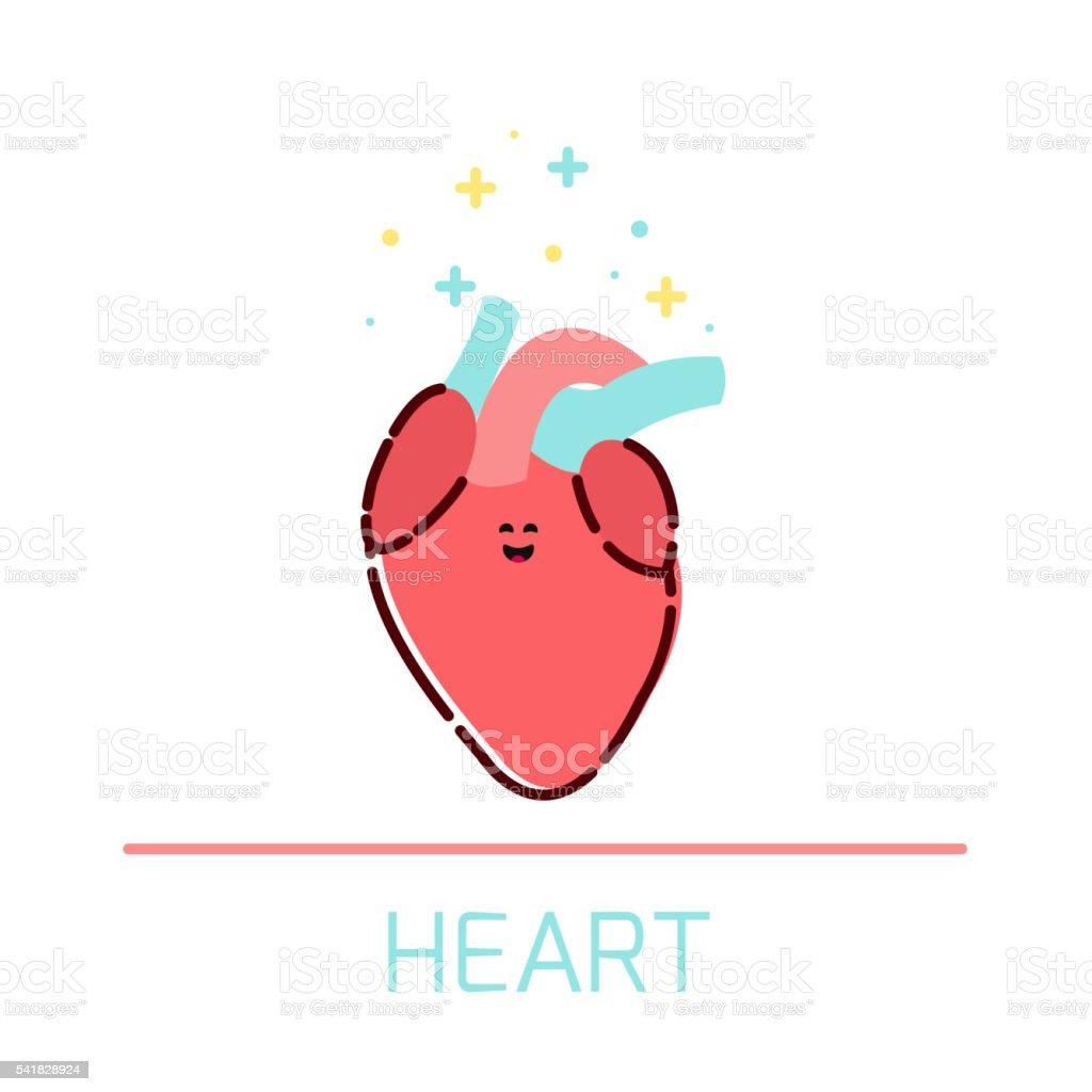 Comic Herzsymbol Stock Vektor Art und mehr Bilder von Anatomie ...