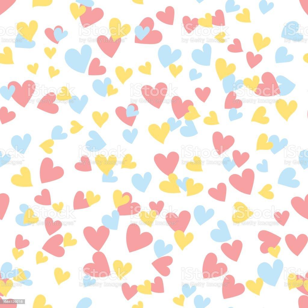 Cartoon hearts seamless pattern. Saint Valentine day symbol background. Vector illustration for any design cartoon hearts seamless pattern saint valentine day symbol background vector illustration for any design - immagini vettoriali stock e altre immagini di allegro royalty-free