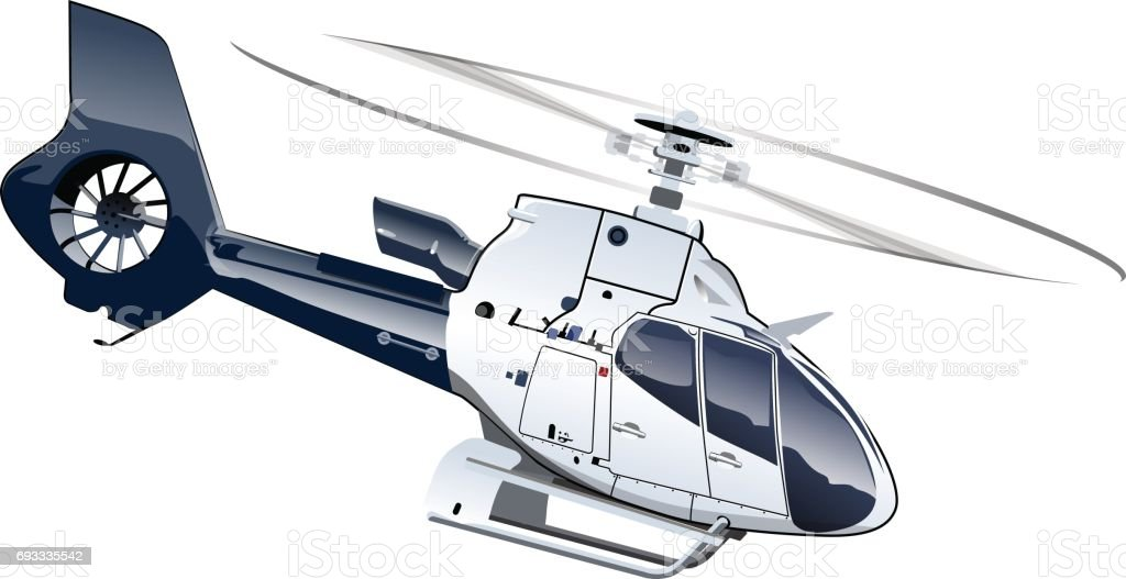 Cartoon Helicopter vector art illustration