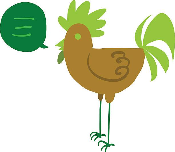 Cartoon hen flat mascot icon. vector art illustration