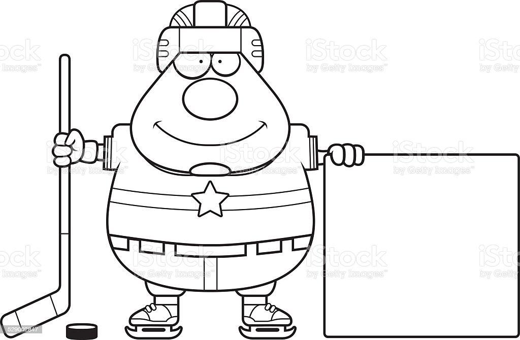 Dessin anim de joueur de hockey sur glace vecteurs libres de droits et plus d 39 images de - Dessin hockey sur glace ...