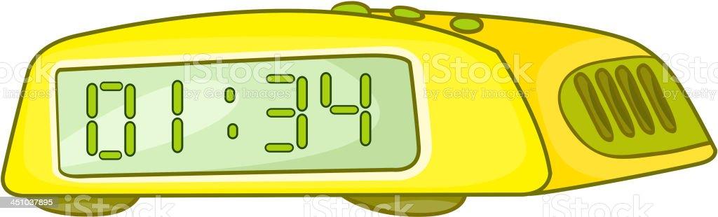 Cartoon Home Clock royalty-free stock vector art