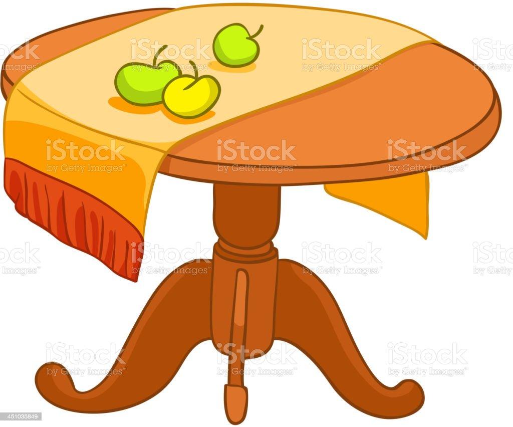 Comic Home Möbel Tisch Stock Vektor Art und mehr Bilder von ClipArt