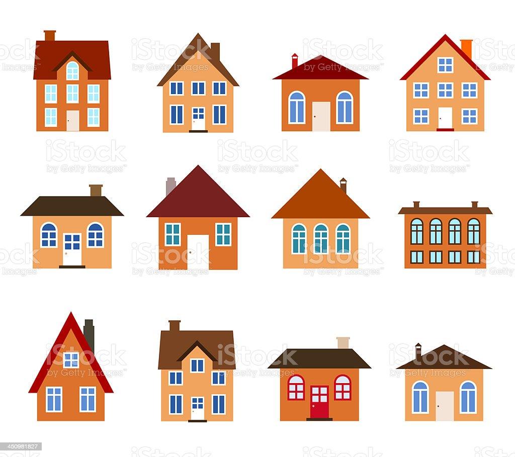Cartoon homes vector art illustration