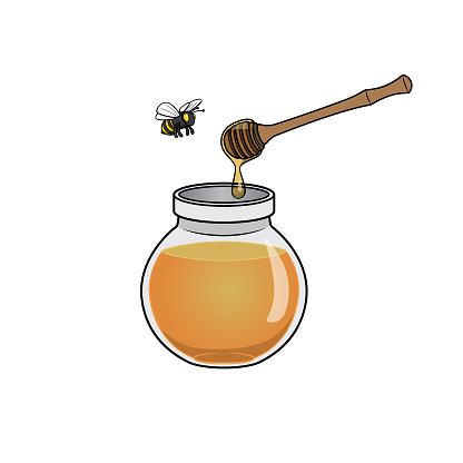 Cartoon honey jug pictures for children This is a vector illustration for preschool and home training for parents and teachers.