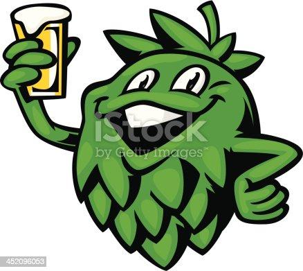 cartoon hop mascot