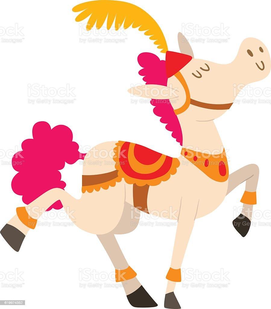 Cartoon horse vector character vector art illustration