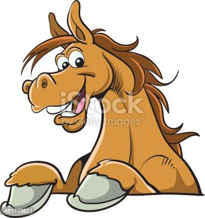istock Cartoon horse 481773611