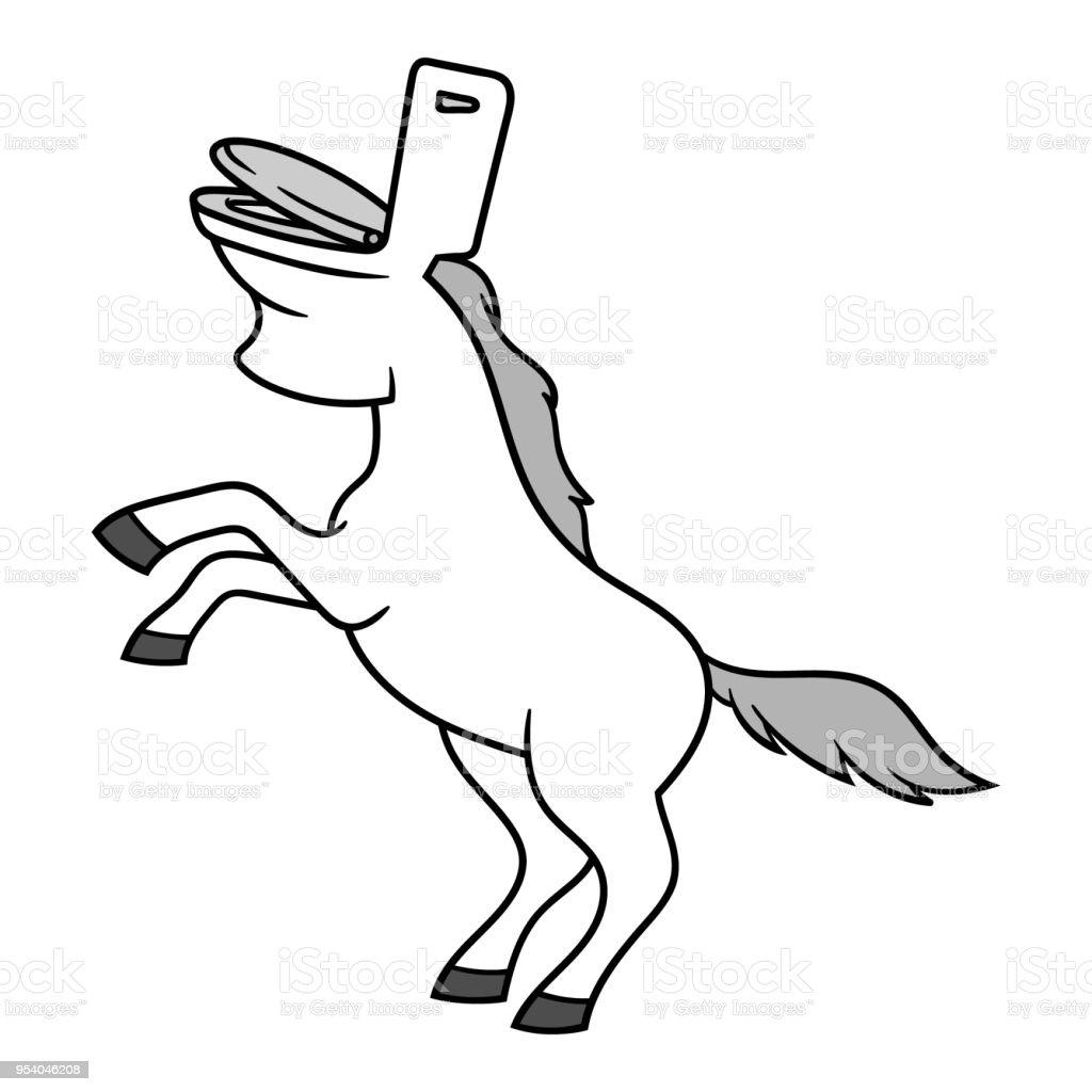 Cheval dessin anim avec t te de toilette cliparts vectoriels et plus d 39 images de animaux de - Dessin anime indien cheval ...