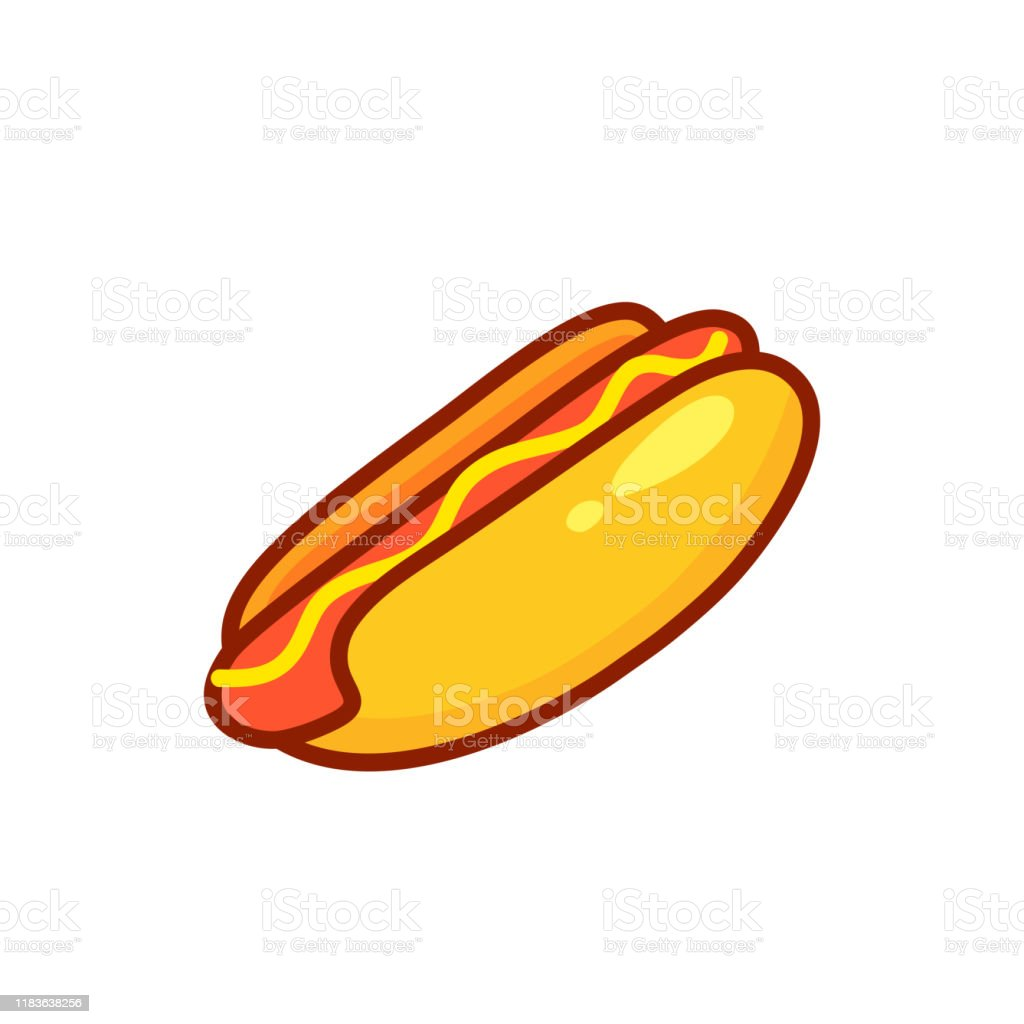 Cartoon Hot Dog Isolated On A White Vector Illustration Stock Illustration Download Image Now Istock