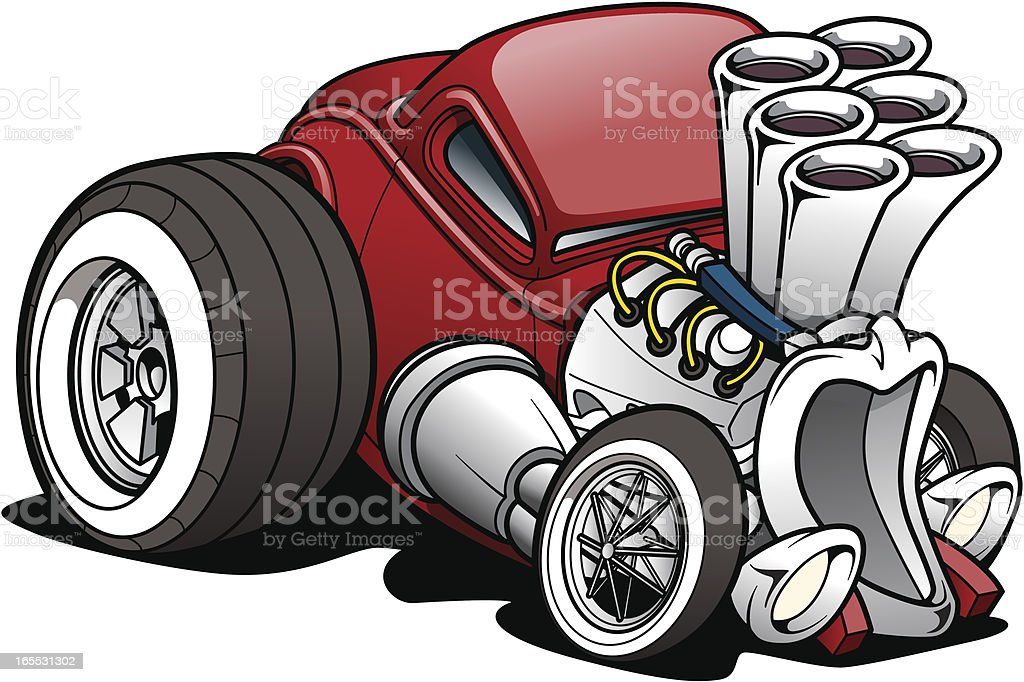Cartoon Hot Rod - Royalty-free Car stock vector