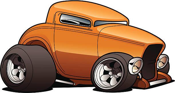 Cartoon Hot Rod vector art illustration