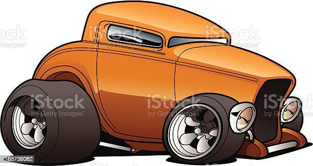 Cartoon Hot Rod Stock Illustration - Download Image Now