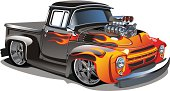 Vector cartoon retro hot-rod. Available eps-8, ai-10 and cdr-9 vector formats