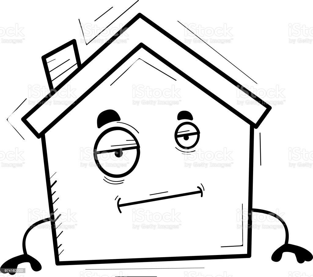 Cartoon Haus Langweilig Stock Vektor Art Und Mehr Bilder Von Clipart