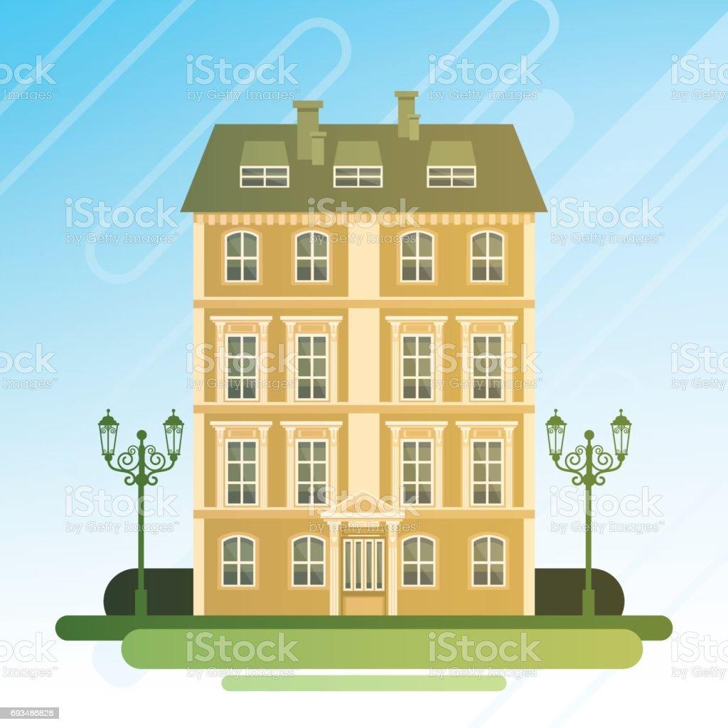 Dessin animé maison bâtiment cottage real estate vieille ville dessin animé maison bâtiment cottage real estate