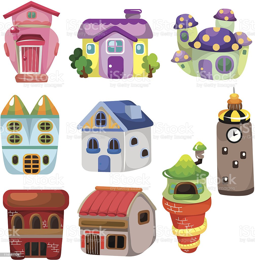 cartoon house icon royalty-free cartoon house icon stock vector art & more images of apartment