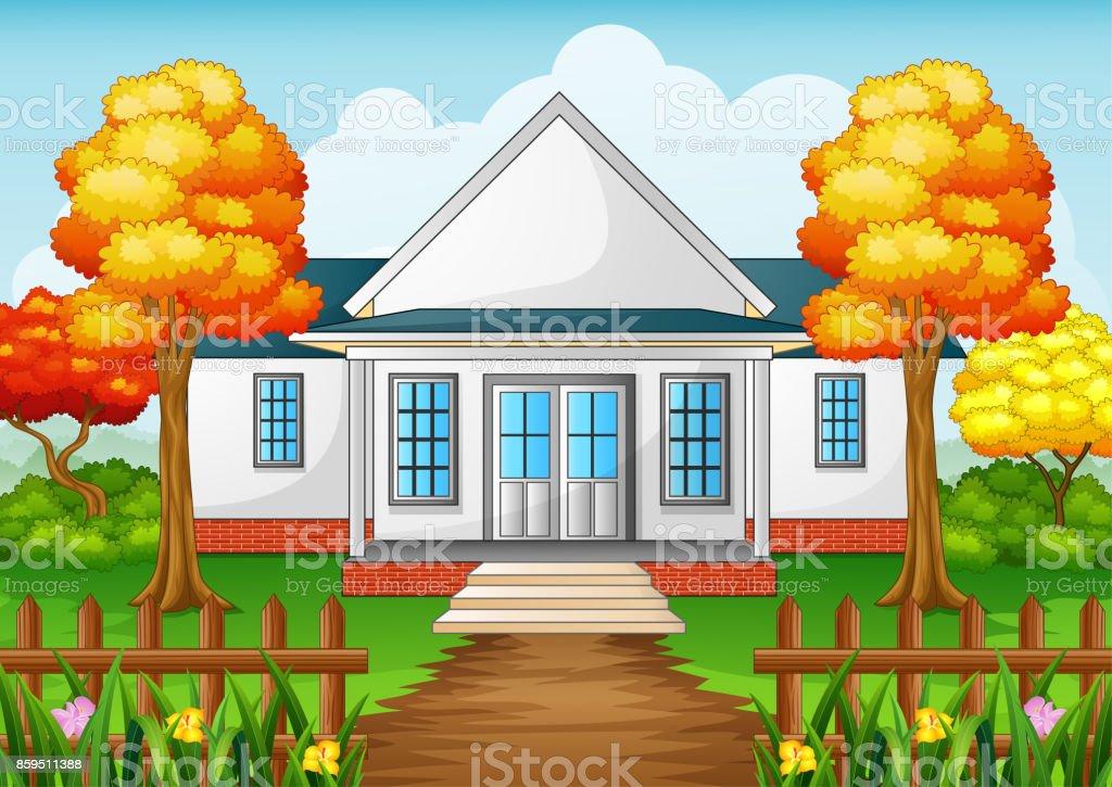 ilustraci n de casa de dibujos animados en temporada de