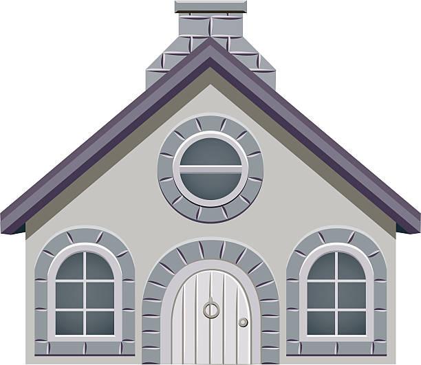 Casa de historieta - ilustración de arte vectorial