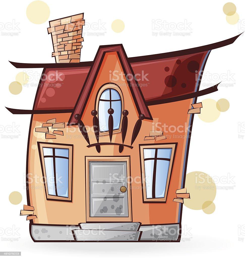 cartoon house royalty-free stock vector art