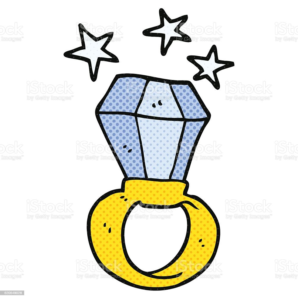 Cartoon Huge Engagement Ring Stock Illustration Download Image Now Istock
