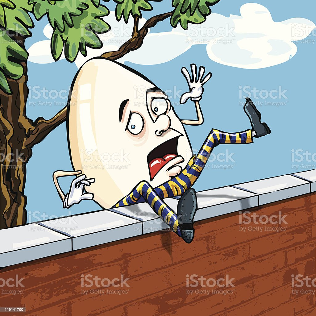 Cartoon Humpty Dumpty royalty-free stock vector art