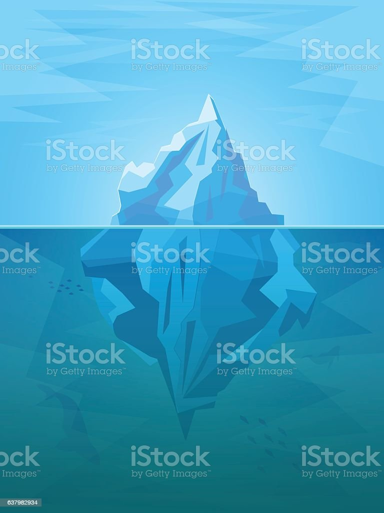 Cartoon Iceberg. Vector vector art illustration