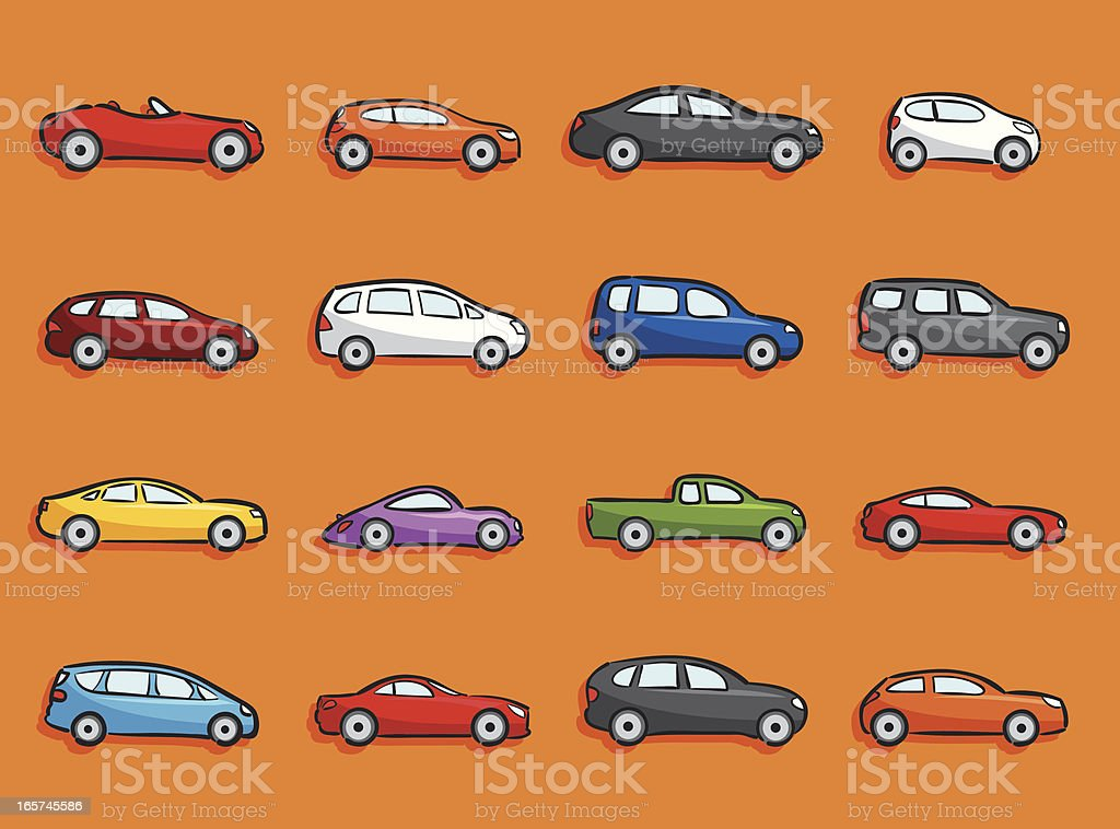 Cartoon Icons - Cars royalty-free cartoon icons cars stock vector art & more images of 4x4